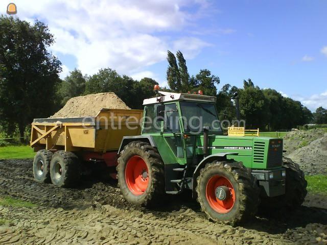 Tractor + kipper Fendt 611LSA + VGM