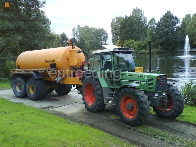 Tractor + waterwagen Fendt 311 + Veenhuis