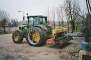 Tractor + rotorkopeg + zaaimachine John Deere 6320