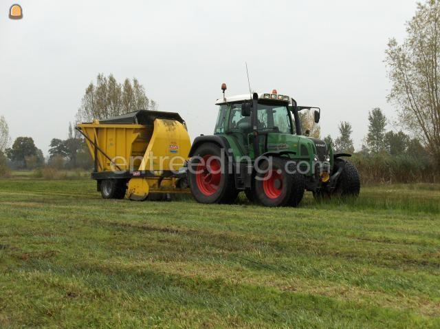 Tractor + maai/ laadcombinatie fendt 412 met omarv ter190