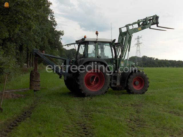 Tractor + grondboor Fendt 412