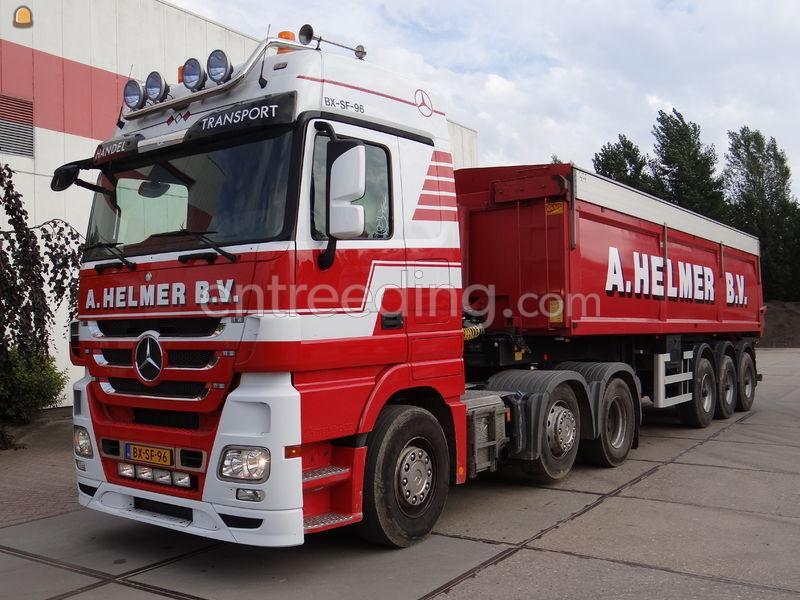 Kippervrachtauto Mercedes Actros 6x2 kippertrailer