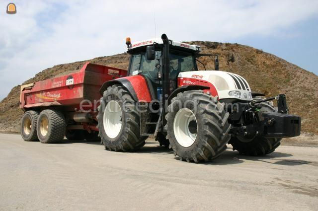 Tractor + kipper Steyr 6195 CVT (2x) + Beco