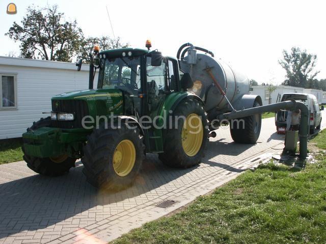Tractor + waterwagen John Deere 6420 S (2x)
