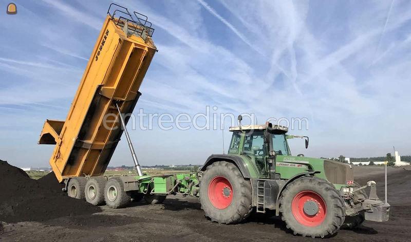 Tractor met Joskin kipper 3-asser