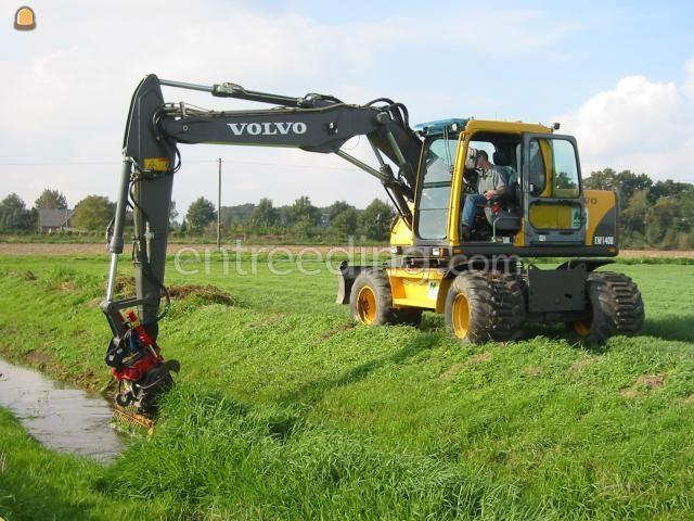 Tractor + maaikorf Herder maaikorf +Mobile kraan