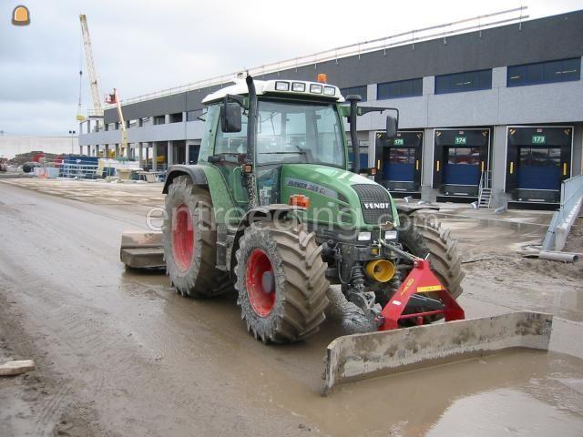 Tractor fendt + rubberschuif
