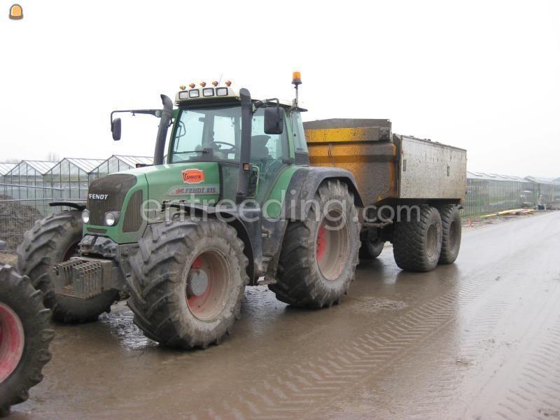 Tractor + kipper Fendt + VGM met mileukleppen