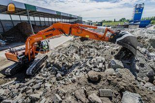 Zuiver betonpuin Omgeving Antwerpen