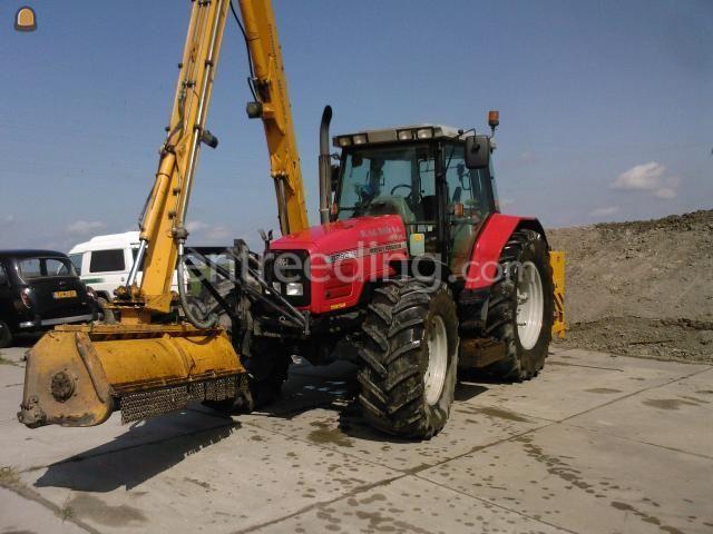 Tractor + armklepelmaaier 6290 + Herder