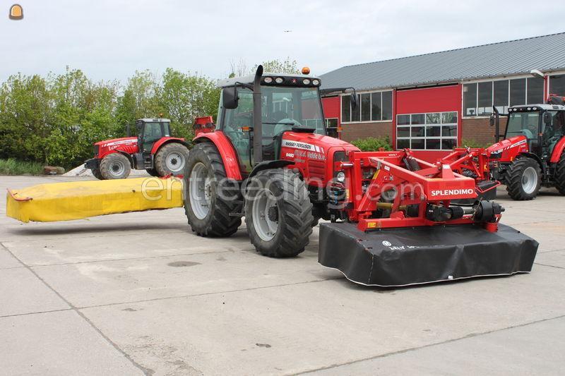 Tractor + schijvenmaaier MF 6460 + schijvenmaaiers