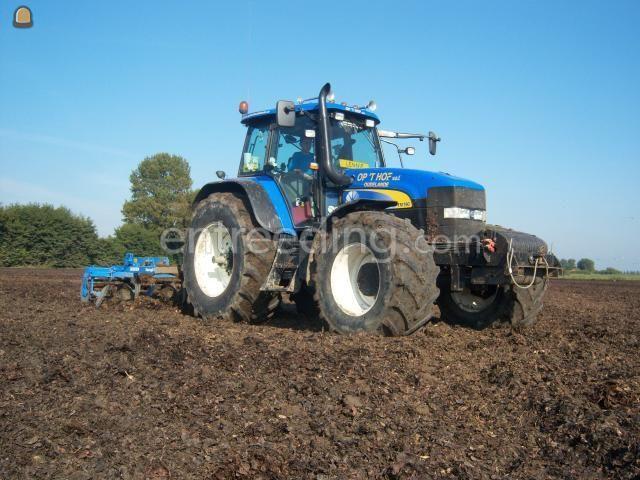 Tractor + ondergronder New Holland TM190 + cultivator
