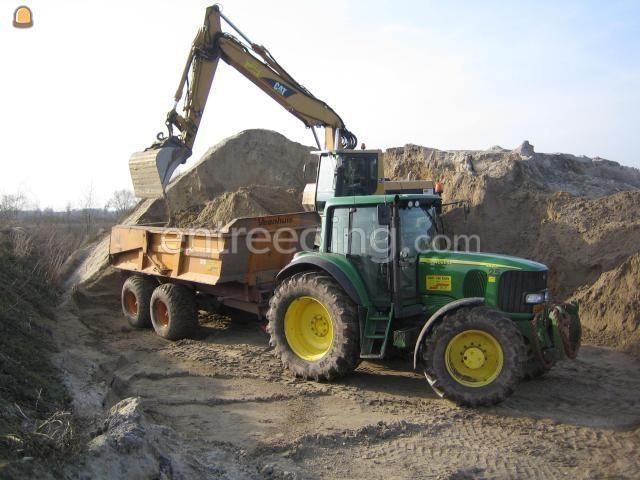 Tractor + kipper John Deere + dumper