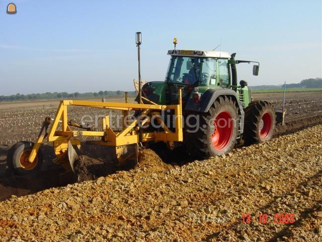 Tractor + diepploeg Fendt + 2 schaar diepploeg