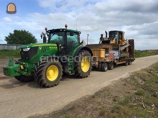 Tractor + dieplader Omgeving Druten