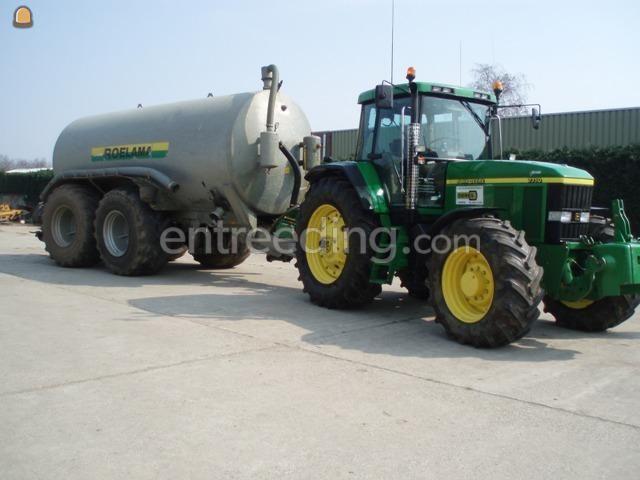 Tractor + waterwagen John Deere + roelama ton