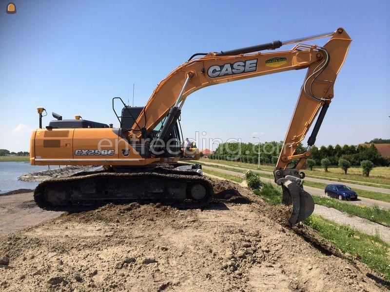 Case CX250C met GPS