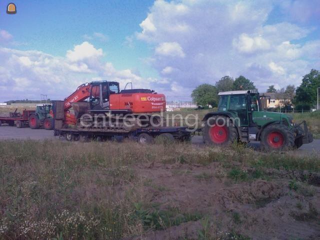 Dieplader / oprijwagen tractor en dieplader