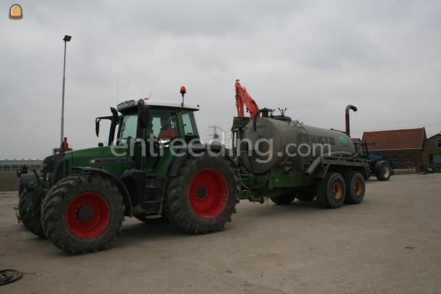Tractor + waterwagen Fendt + Joskin