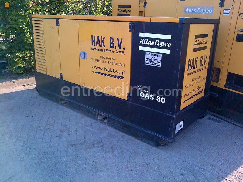Atlas Copco 80 kVA aggregaat
