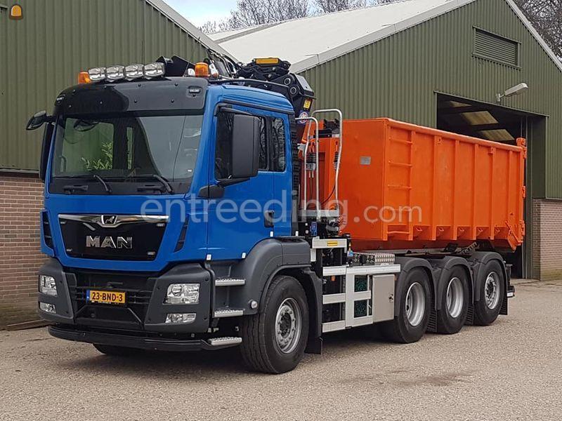 Knijperauto/containerwagen  met 2243 z kraan 22 ton hyva haakarmsysteem