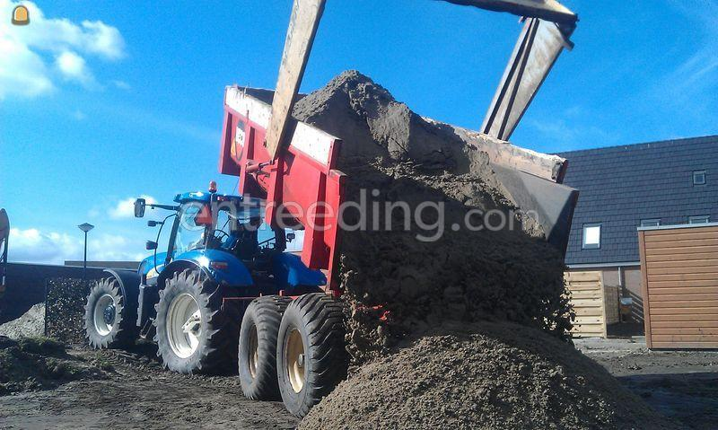Tractor + kipper Newholland-be
