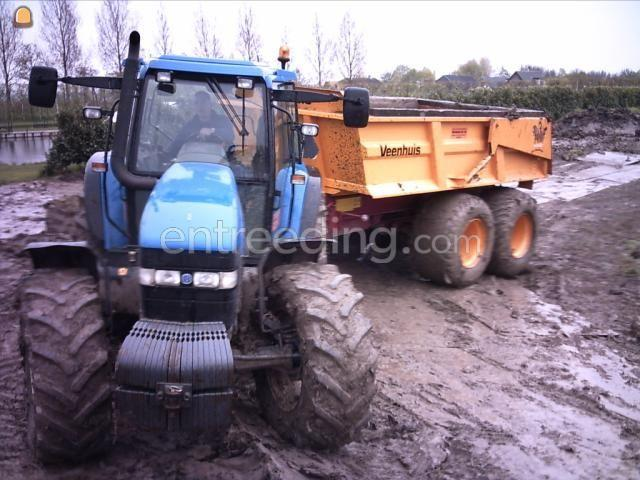 Tractor + kipper New Holland 8560 + Veenhuis