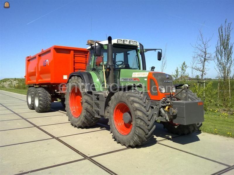 Tractor + kipper Fendt + 20m3 vloeistofdicht VGM