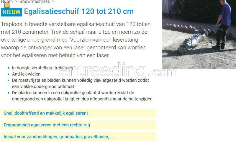 Egalisatieschuif 1200 tot 2100 mm