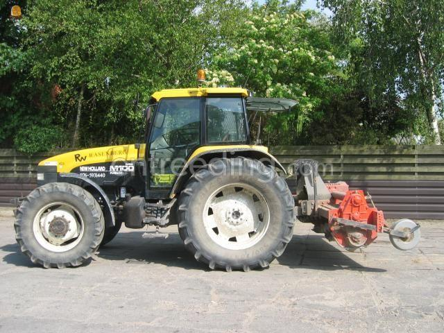 Tractor + grondfrees New Holland + Howard