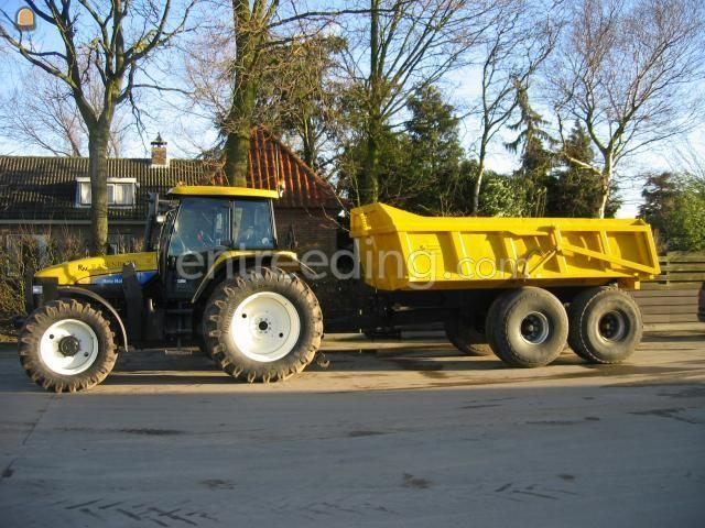 Tractor + kipper Newholland TM 120 met Alasco