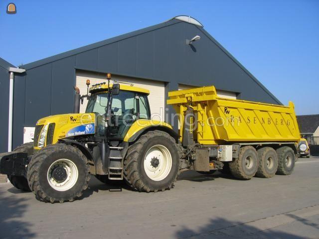 Tractor + kipper Grondkar 3 asser met weegsysteem