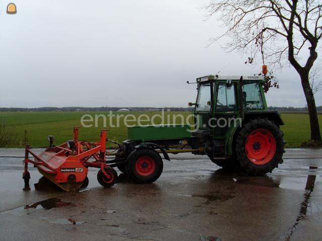 Tractor + veegmachine Fendt F 360 GT + veegmachine