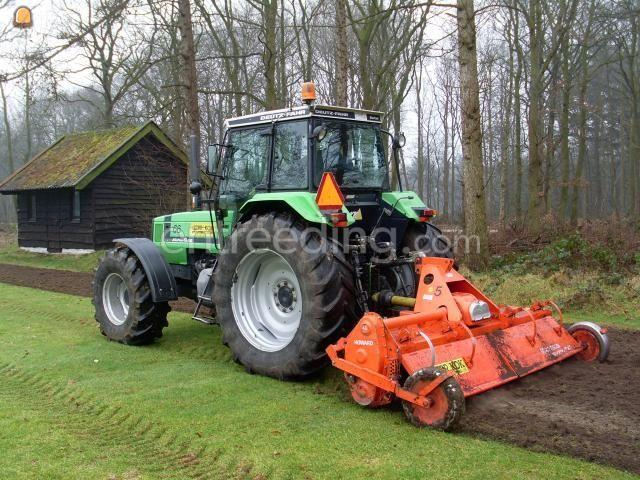Tractor + grondfrees Deutz + frees
