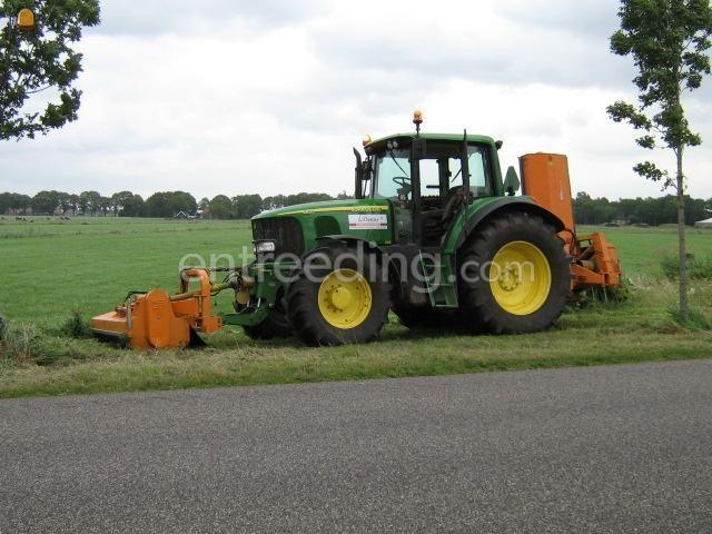 Tractor + klepelmaaier JD + klepelmaaier