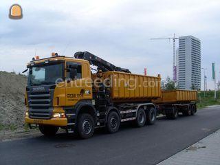 Scania R480b + aanhanger Omgeving Oosterwolde