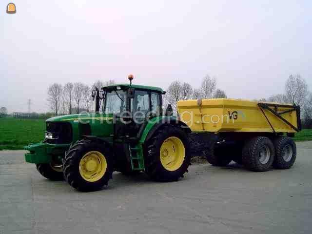 Tractor + kipper John Deere 6520SE