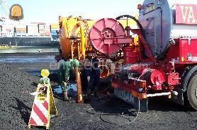 Tractor + drainage/ rioleringsreiniger Rioolreiniger