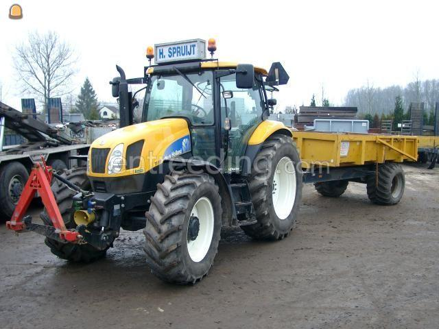 Tractor + kipper Tracktor + grondkar 6 m3