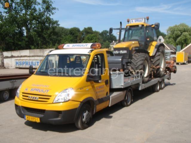 Dieplader / oprijwagen Iveco daily 35-18 + oplegger