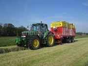 Tractor + silagewagen 3x Pöttinger torro 5100