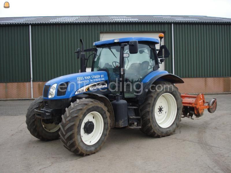 Tractor + grondfrees New Holland + Howard frees