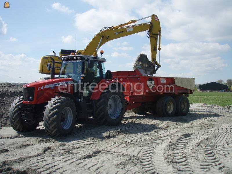 Tractor + kipper MF + Beco 160
