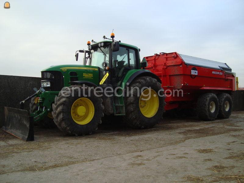 Tractor + kipper JD + Beco 220