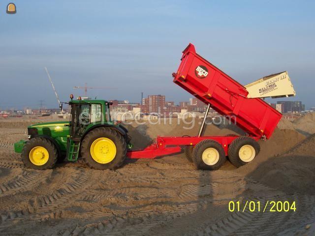 Tractor + kipper JD 6620 + beco 180
