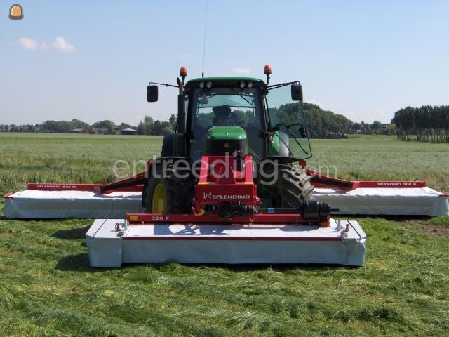Tractor + schijvenmaaier John Deere + Lely Splendimo Triplo 900 MC