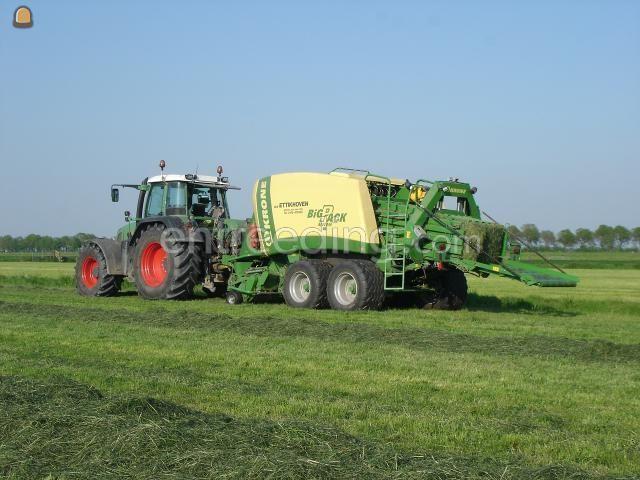 Tractor + balenpers rechthoekig Krone Big Pack 1270XC