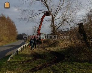 groenaanleg, vellen bomen... Omgeving Ronse, Oudenaarde