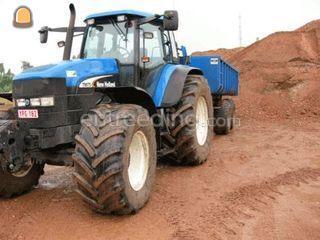 New Holland tractor + gro... Omgeving Diest,Herk-de-Stad