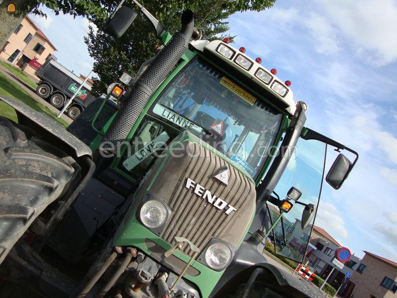 Tractor + kipper Fendt 820 + VGM